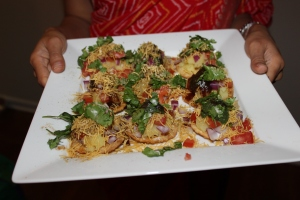 papdi chaat - deliciousness on a plate