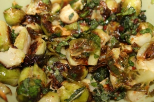 salty, garlic-y vegetables - my favorite!