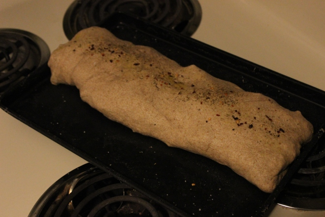 your stromboli log, pre-bake